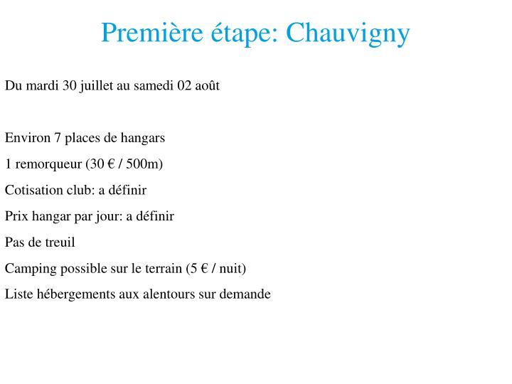 Première étape: Chauvigny