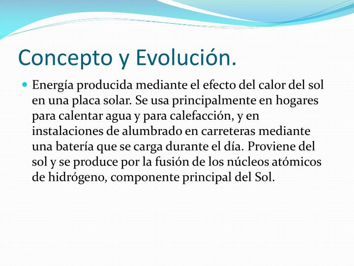 Concepto y evoluci n