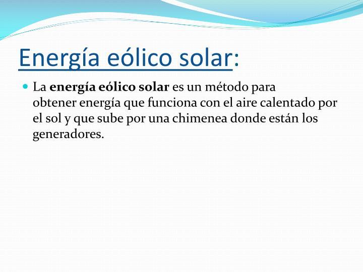 Energía eólico solar