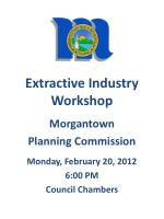 extractive industry workshop