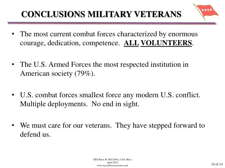CONCLUSIONS MILITARY VETERANS