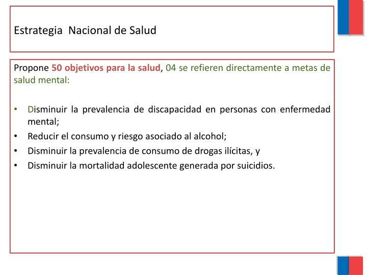Estrategia  Nacional de Salud