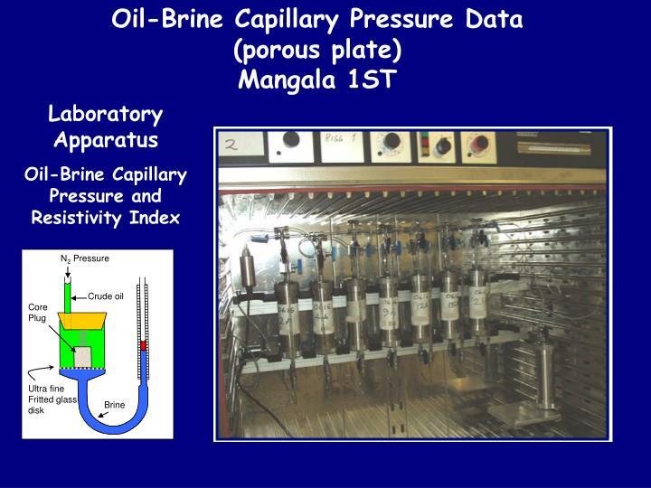 Oil-Brine Capillary Pressure