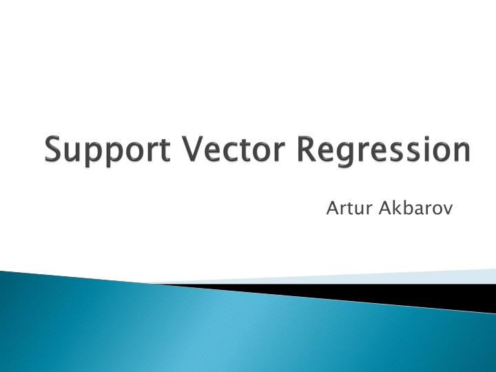 support vector regression n.