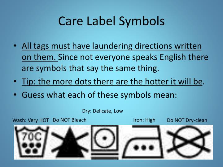 Ppt Laundry 101 And Clothing Care Powerpoint Presentation Id2326657