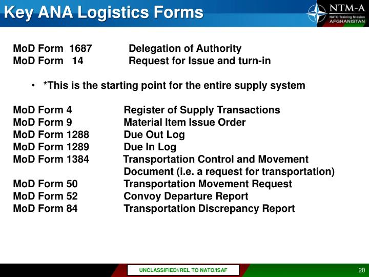 Ppt Afghan National Army Ana Logistics Processes Powerpoint