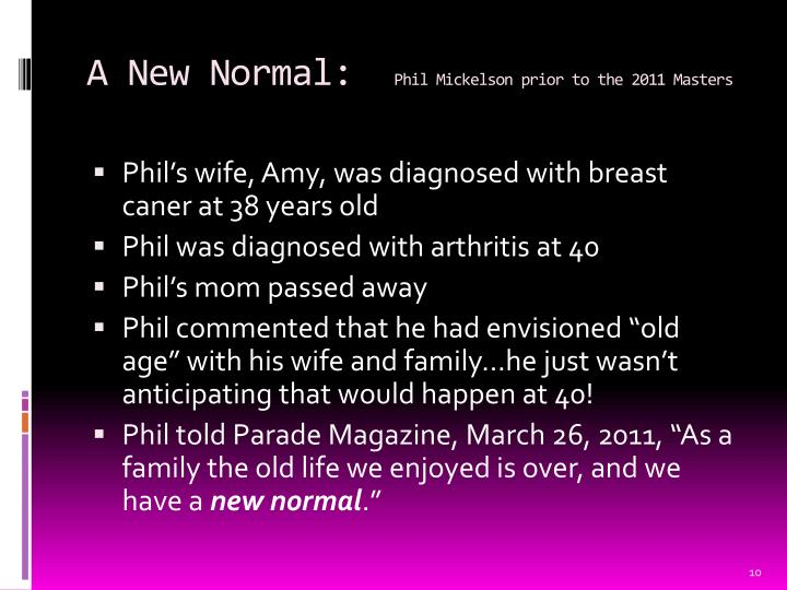 A New Normal: