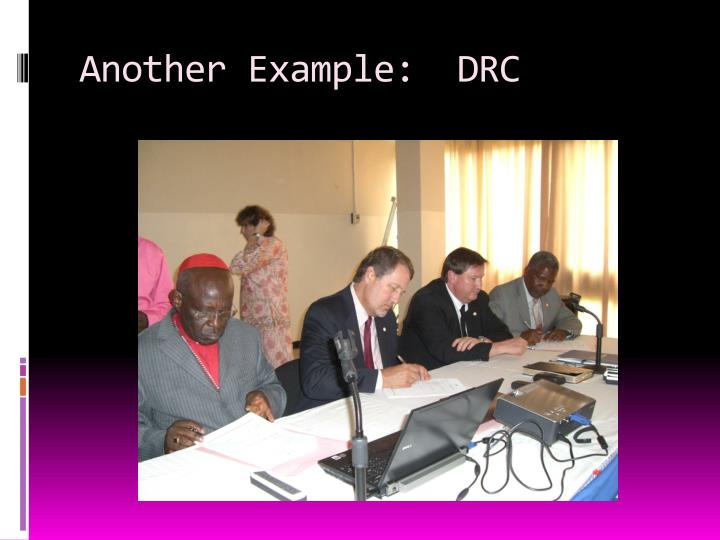 Another Example:  DRC