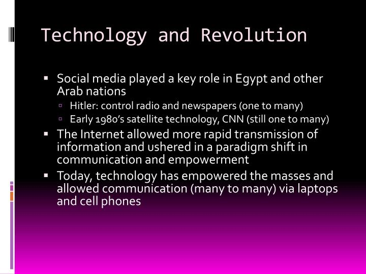 Technology and Revolution