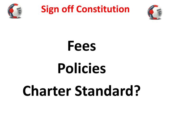 Sign off Constitution