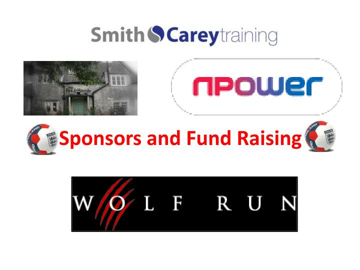 Sponsors and Fund Raising