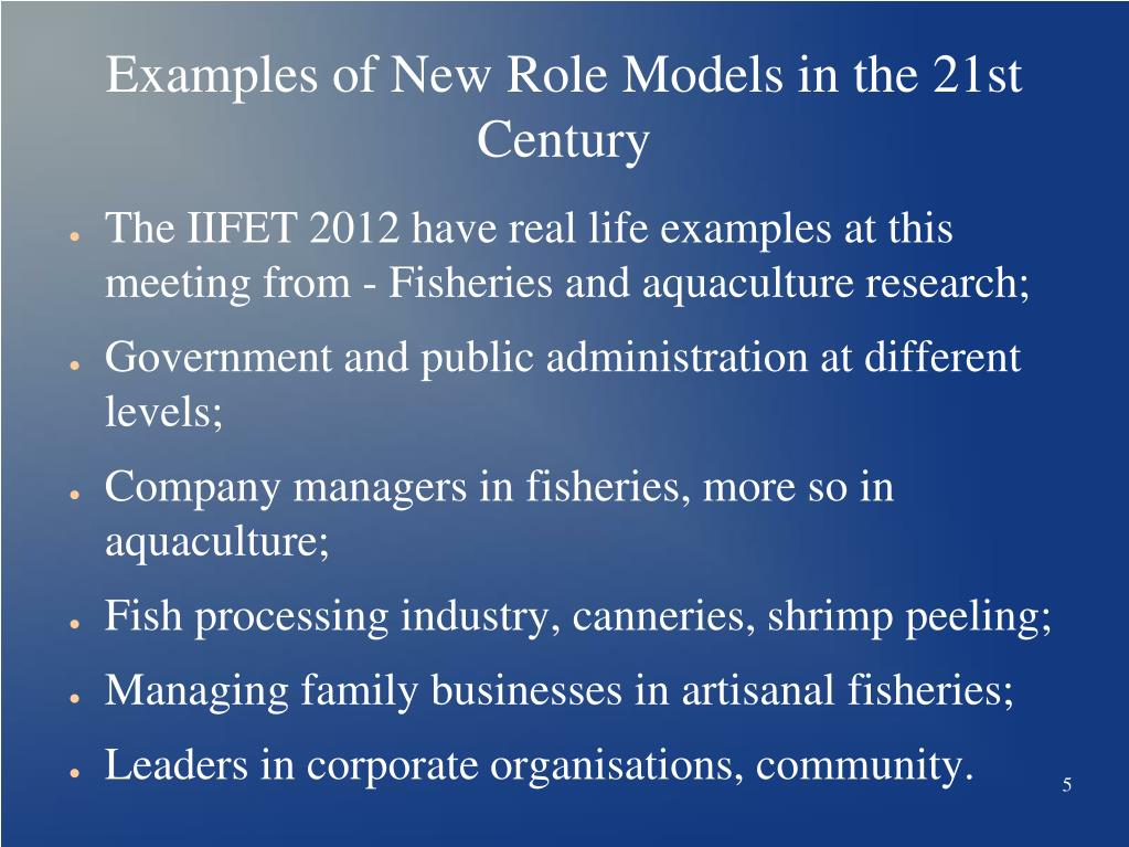 PPT - New socio-economic role models for women in fisheries