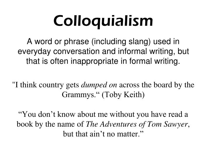 Colloquialism