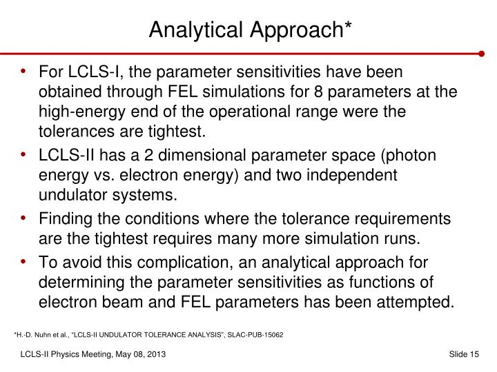 Analytical Approach*