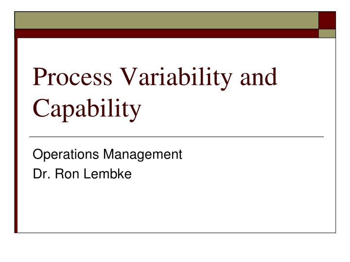 process variability and capability n.