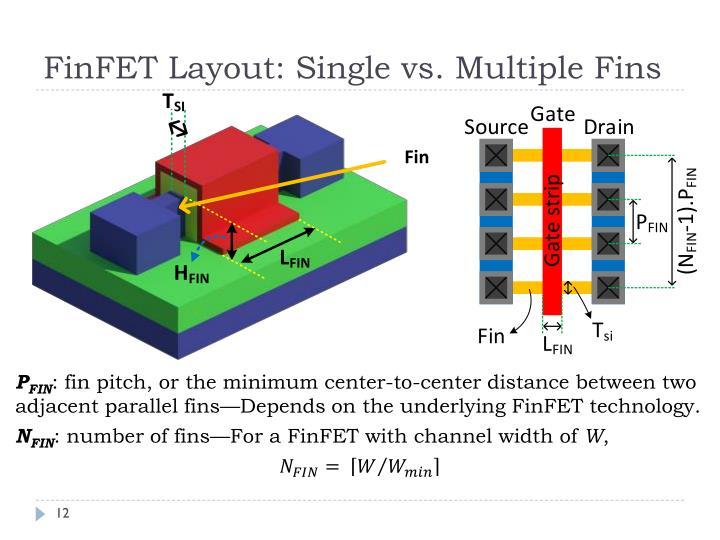 FinFET Layout: Single vs.
