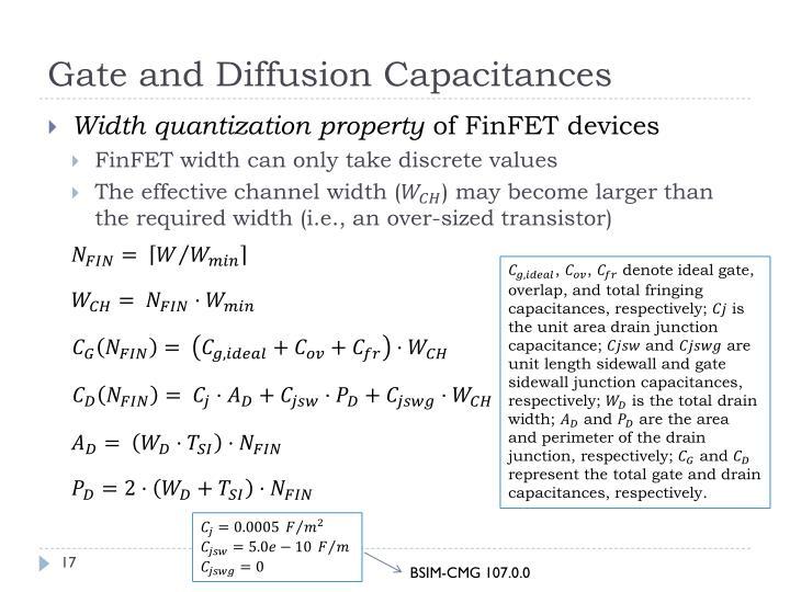 Gate and Diffusion Capacitances