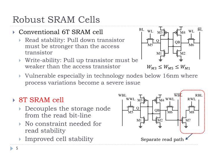 Robust SRAM Cells