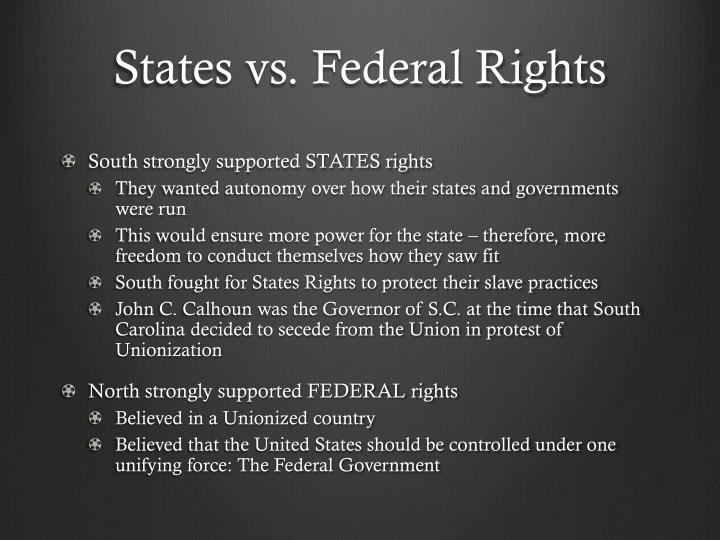 States vs. Federal Rights