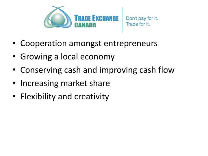 Cooperation amongst entrepreneurs