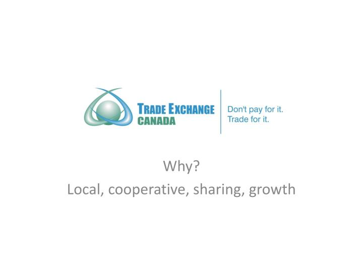 Why local cooperative sharing growth