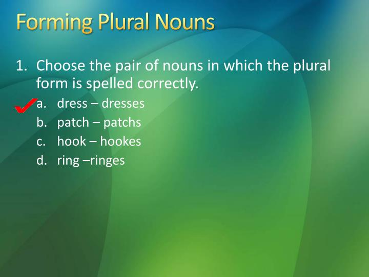 Forming Plural Nouns