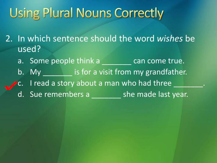Using Plural Nouns Correctly