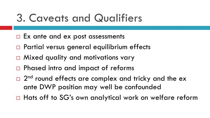 3. Caveats and Qualifiers
