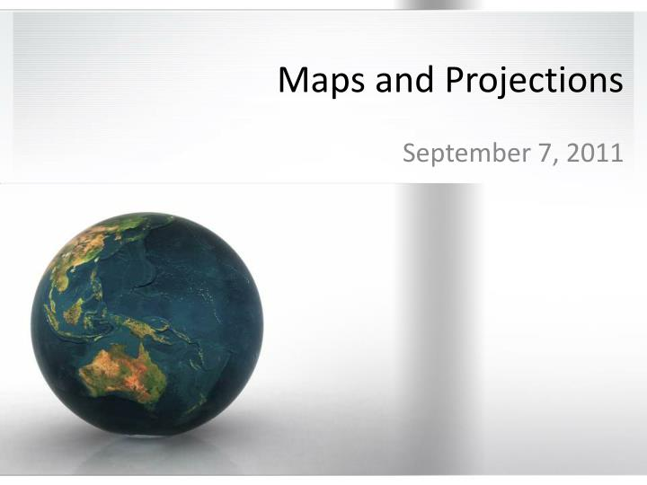maps and projections n.