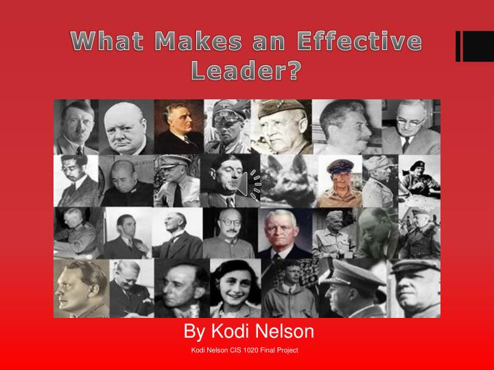 what makes an effective leader n.