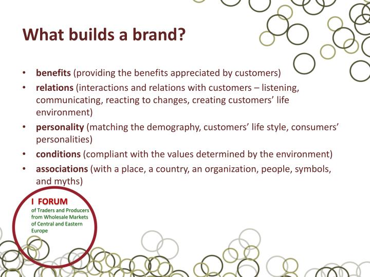 What builds a brand?