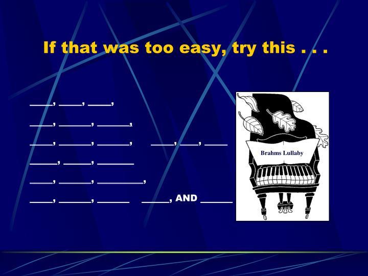 Brahms Lullaby