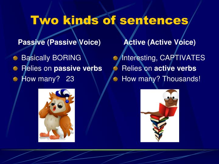 Two kinds of sentences