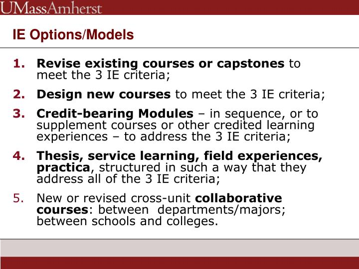 Revise existing courses or capstones