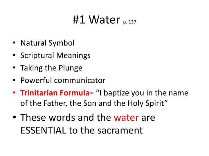 1 water p 137