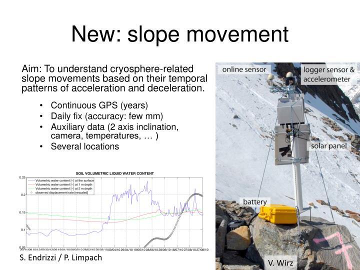 New: slope movement