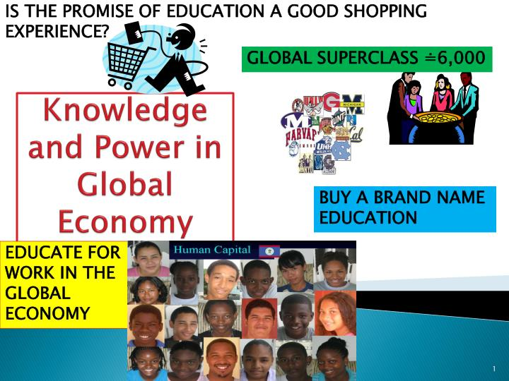 knowledge and power in global economy n.