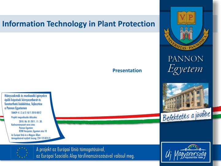 information technology in plant protection n.