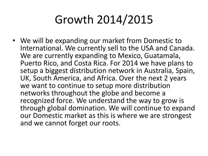 Growth 2014/2015