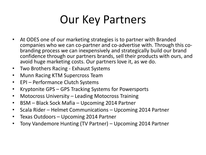 Our Key Partners