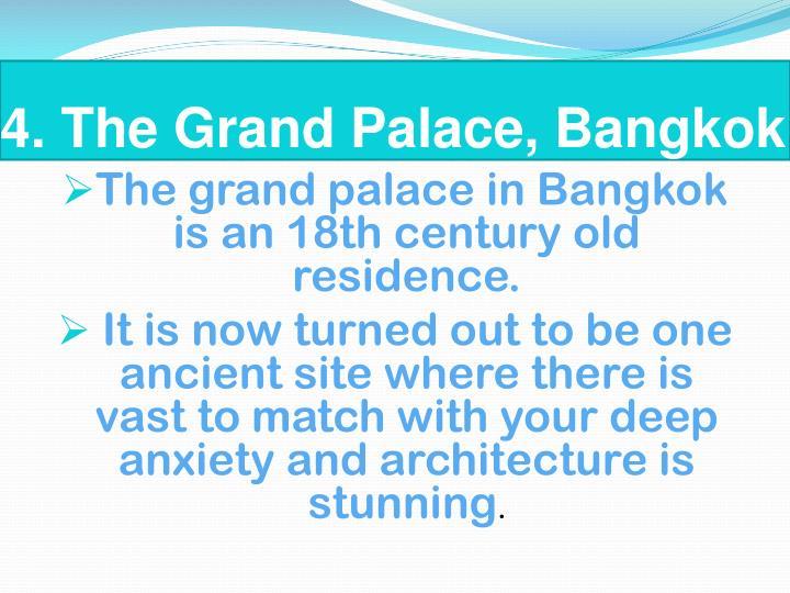 4. The Grand Palace, Bangkok