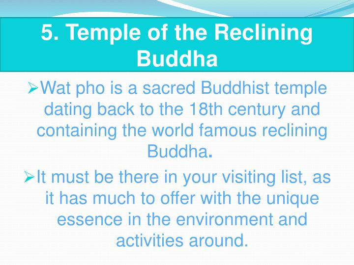 5. Temple of the Reclining Buddha