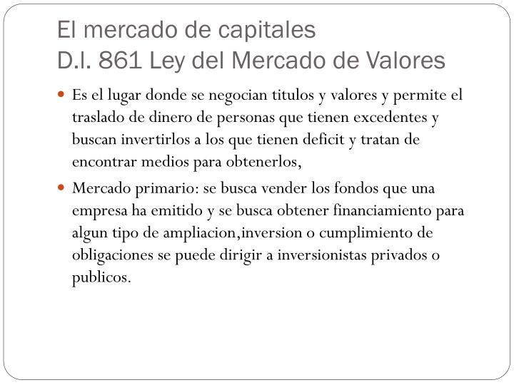 El mercado de capitales