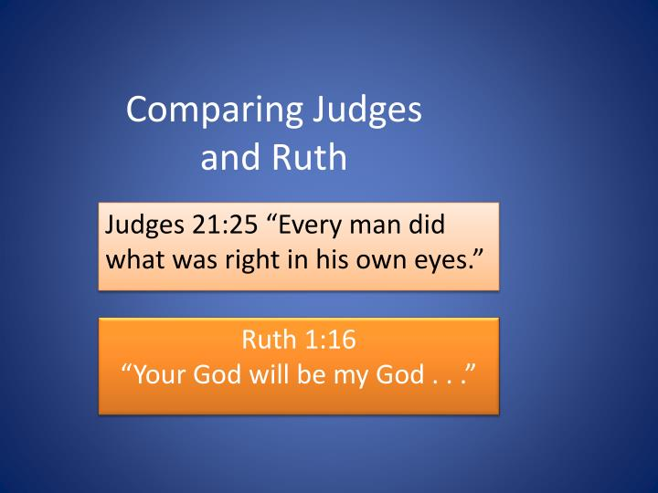 comparing judges and ruth n.