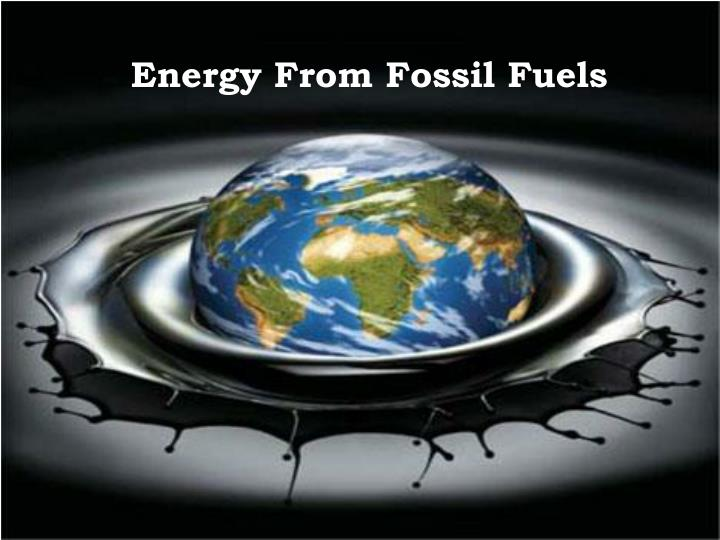 energy from fossil fuels n.