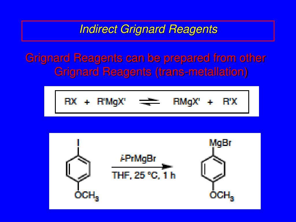 Ppt Organometallic Reagents Carbon Metal Bonds