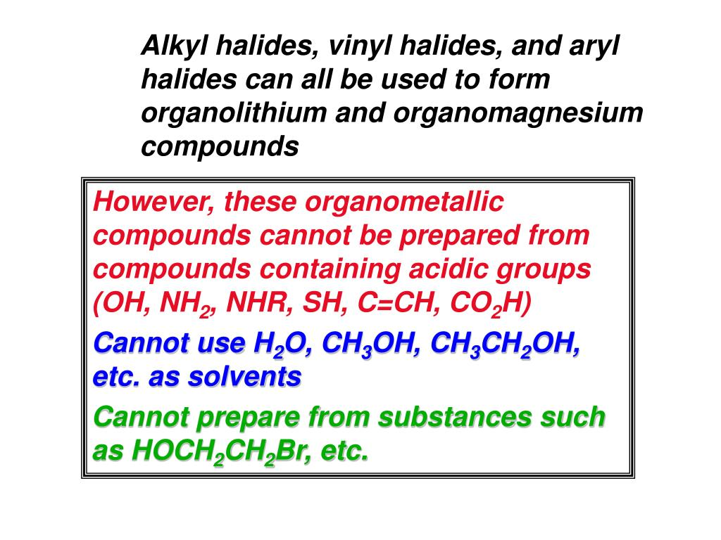 Ppt Organometallic Reagents Carbon Metal Bonds
