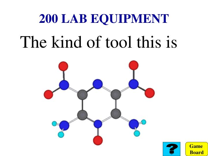 200 LAB EQUIPMENT