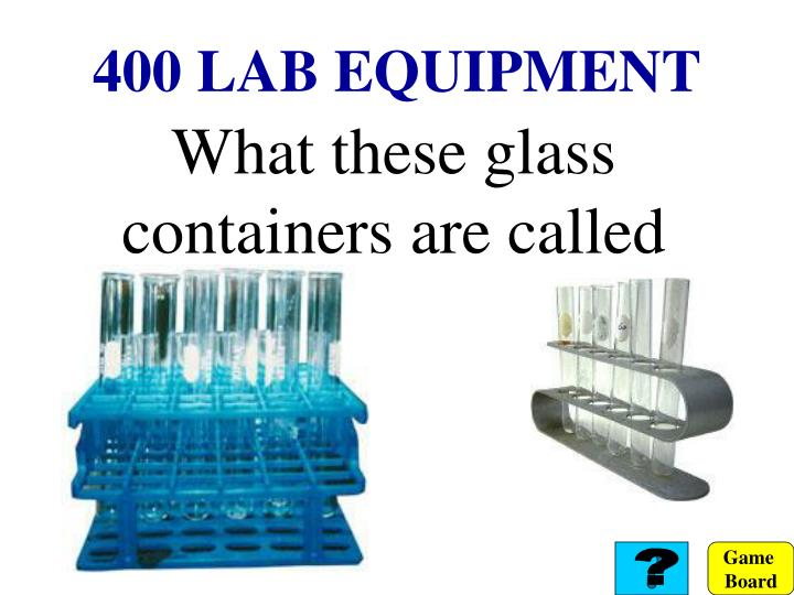400 LAB EQUIPMENT