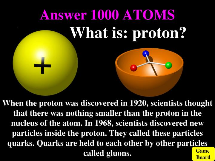 Answer 1000 ATOMS